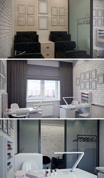 Small Loft Space Home Nail Salon Decor Ideas Nice Nail