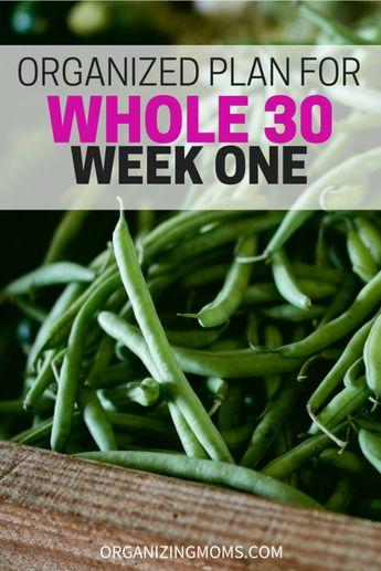 Organized Whole 30 Meal Plan - Week 1