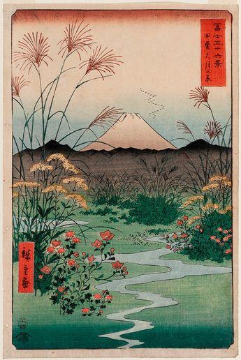 Utagawa Ando Hiroshige : Otsuki Plain in Kai par RenfieldsGarden