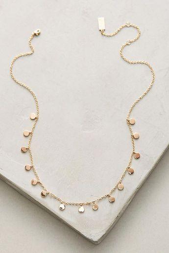 Delicate Discs Choker Necklace