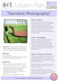 Narrative Photography: Free Lesson Plan Download