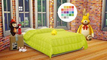 My Sims 4 Blog: Jonesi Blankets in 25 Colors by SimsInWonderland