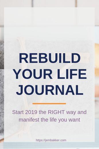 Rebuild your life 2019 Planner