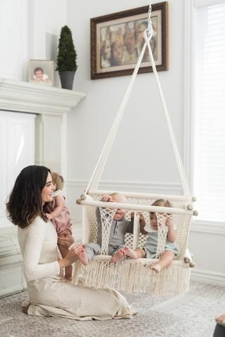 Macrame Hammock Children's Swing Chair- Handmade in Nicaragua - Adelisa & Co.