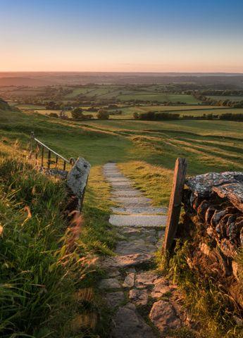 "wanderthewood: "" View from Brentor Church - Dartmoor, Devon, England by wardo1984 """