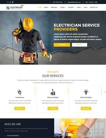 Revo Construction Multi - Page Web PSD Template #71567