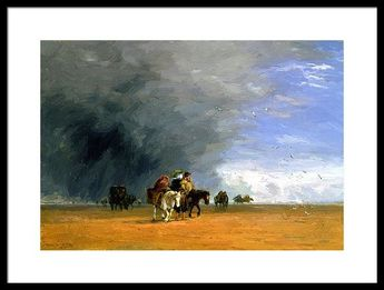 Crossing The Sands 1848 Framed Print by David Cox