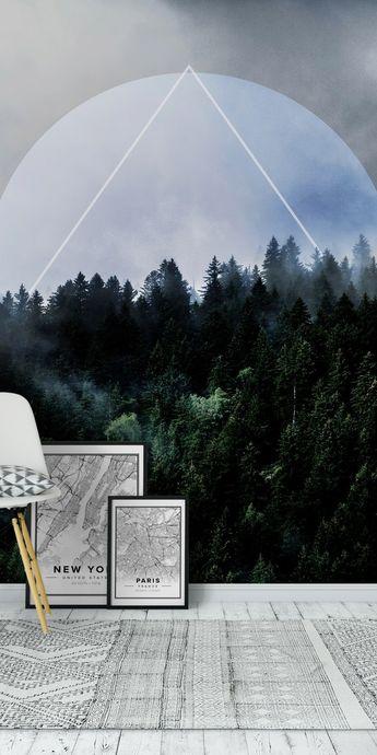 Foggy Woods 3X Wall mural