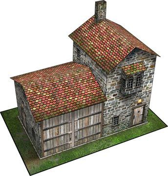 Coach House Paper Model | Dave's Games