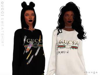 aba97e91b5b SHUNGA - GUCCI Sweatshirt - The Sims 4 Download - SimsDom