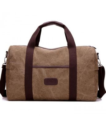 Mens Duffle Bag Canvas Bag Weekender Overnight Bag Carry on Travel Tote -  Brown - CW1898A6CZI dbd0c465c5c8b