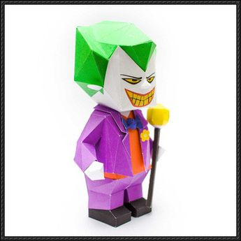 This papercraft is a chibi The Joker, a supervillain and the archenemy from DC comics' Batman series, the papercraft was created by mookeep. There are othe