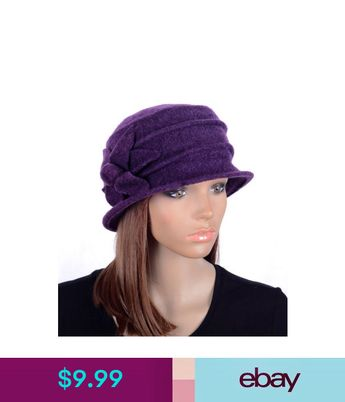 M495 Purple Women s Cute Flower Wool Acrylic Winter Beanie Hat Cloche Dress  Cap 40d4774c6d59