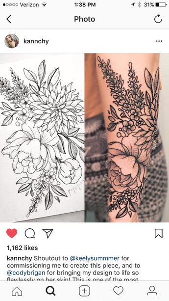 Lower arm sleeve with the birth flowers❤️❤️ #sleevetattoos