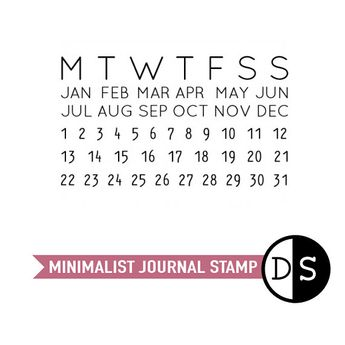 Perpetual Calendar Stamp Personal Journal Task Planner Organisation Stationery Clear