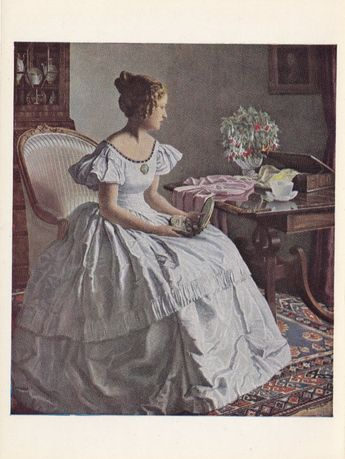 Woman in White Dress by Leonard Campbell Taylor by LostGallery, $5.00