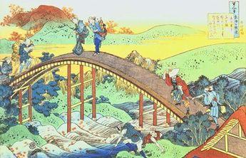 Autumn, Red Sycamore Leaves on the River Tatsuta by Katsushika Hokusai