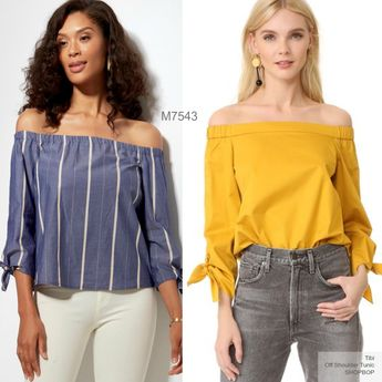 Sew the Look: McCall's M7543 off shoulder top sewing pattern