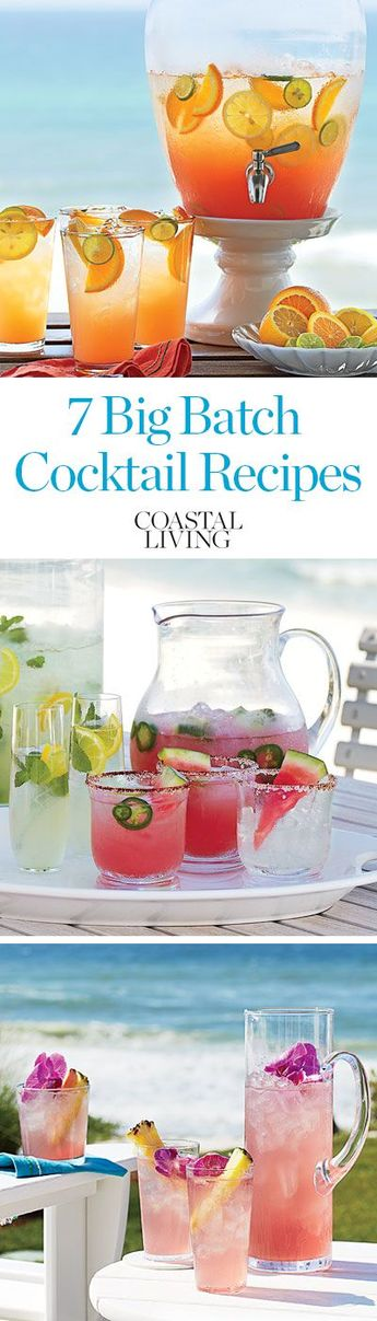 What's the best way to enjoy your own party? Mix up some big-batch cocktails to serve your crew by the shore.