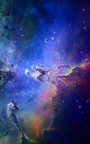 "thedemon-hauntedworld: "" M16 Eagle Nebula in colour mapped narrowband Credit: Fred Vanderhaven """