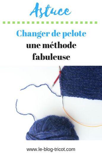 Changer de fil de manière discrète et sans avoir à rentrer de fil ensuite: que du bonheur pour les tricoteuses que nous sommes!