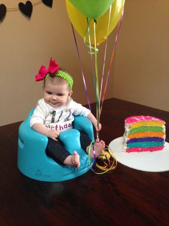 1/2 birthday six layer cake