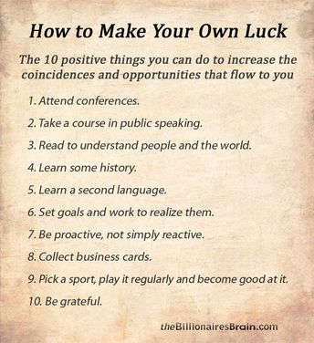 How to make your own luck in business #luck #infograph #infographic #startups #entrepreneurs #CEOs #Founders #Business #Success #money #company #Book