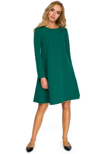 5e043e901a Dzienna Sukienka z Kokardką na Ramieniu Zielona MO422