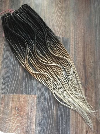 a69daf475502a Ombre Smooth Double Ended Synthetic Dreadlock Extensions.