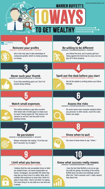 [Info-Graphic] Warren Buffett's 10 Ways to Get Wealthy - For Finance Sake