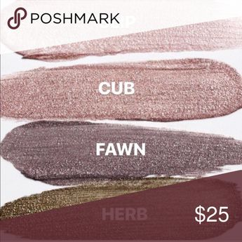 Glossier BUNDLE cub & fawn lidstar Swatched once, new in box, colors cub and fawn Glossier Makeup Eyeshadow
