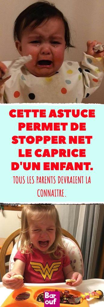 Cette astuce permet de stopper net le caprice d'un enfant. Tous les parents devraient la connaitre. #parents #enfant #éducation #famille #crise #pleurs #astuce