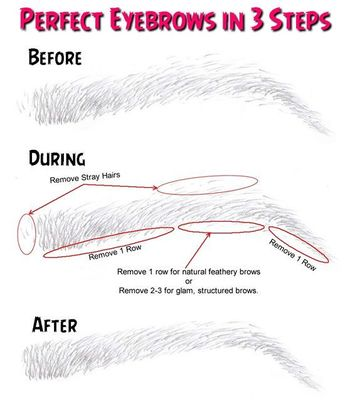 Perfect Eyebrows in 3 Steps - GHETTO FABULOUS NAILS | Hair And Beauty, Hair And Makeup, Eye Makeup, Permanent Makeup Eyebrows, Eye Brows, Beauty Makeup, Beauty Tricks, Beauty Tutorials, Makeup Tricks