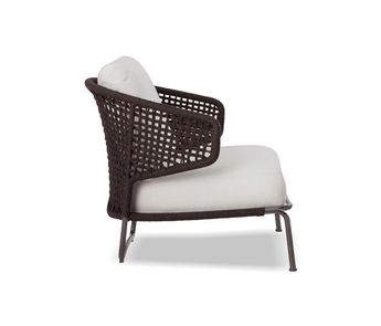Ushuaia Lounge Stoel.Morocco Graphite Oval Lounge Chair With White Cushion