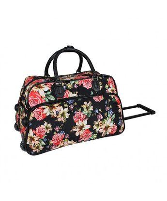 4e46657c9167 21-Inch Carry-On Rolling Duffel Bag- Flower Bloom - Flower Bloom -