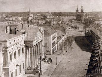 El Congreso de los Diputados y la Carrera de San Jerónimo, foto de Charles Clifford, c.1855.(900×683)