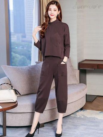 2833c13699a8e ファッション通販 #Fashion Doresuwe長袖パーカーおしゃれポケット付きパンツコーデ韓国風大人