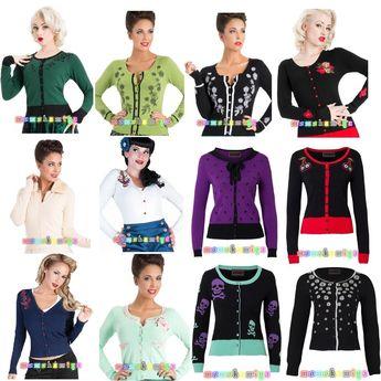 Voodoo Vixen Jawbreaker Women Vintage Cardigan Top Rockabilly 50'S Cardi Style