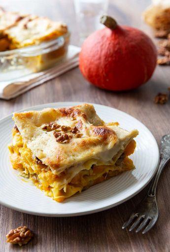 Lasagnes au potimarron et noix