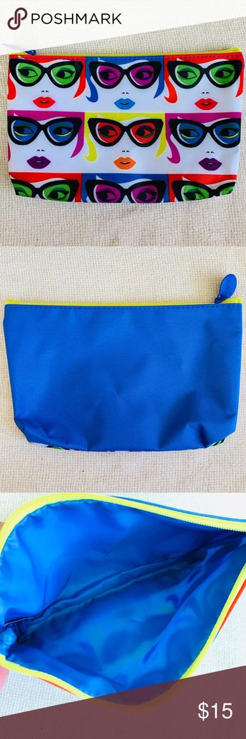 🆕 Ipsy The Eyes Have It Cosmetic Makeup bag New without tags. Ipsy The Eyes Have It Cosmetic Makeup bag. Multicolor bag design with adorable faces wearing sunglasses on the front. Solid royal blue color on the back and lining. Bright yellow zipper. Inside is fully lined to easily clean any spills. Makeup bag is new and never been used. It can be used also as a everyday bag for your essentials, phone and keys. Small mark on the front of the bag barely noticeable (see pic. #4). Approx . Measureme