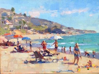 Jim McVicker,  12x16, 'A Day at the Beach'