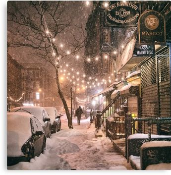 East Village in the Snow - New York City | Canvas Print