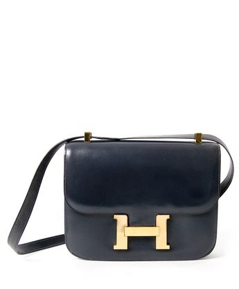 8453508d59e Vintage Authentic Hermès Constance Bag Navy Blue Marine. Buy and sell  authentic secondhand Hermes at