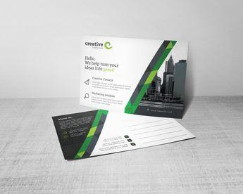 Stripe Professional Corporate Postcard Template - Graphic Templates
