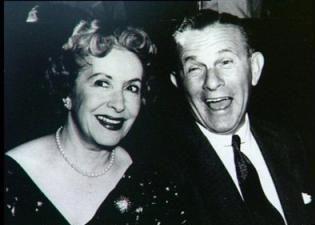 George Burns & Gracie Allen were married 38 years.
