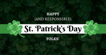 Dark St. Patrick's Day Facebook Post Template Template - Venngage