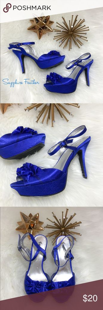 "d1c13a21ca 🆕FIONI NIGHT COLLECTION ROYAL BLUE HEELS FIONI NIGHT COLLECTION ROYAL BLUE  HEELS ""Like New"
