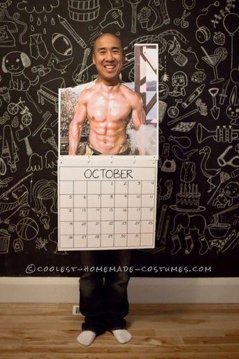 Last Minute DIY Mr. October Feuerwehrmann Kalender Kostüm, # Firefighter #ka ... #feuerwehrmann #firefighter #kalender #kostum #minute #october