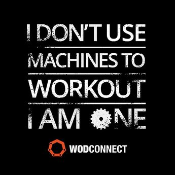 """I don't use machines to work out. I am one."" #Fitness #Inspiration #Quote"