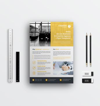 Simple Corporate Flyer Designs - Graphic Templates